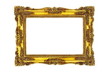 Barocker Bilderrahmen isoliert auf weiß