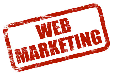 Grunge Stempel rot WEB-MARKETING