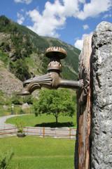 fountain on an alp
