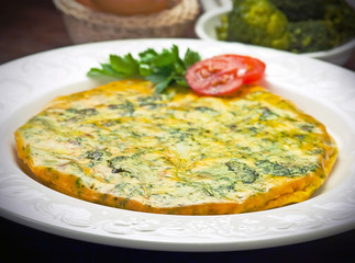 Frittata con broccoli - Omelette with broccoli