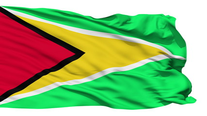 Waving national flag of Guyana