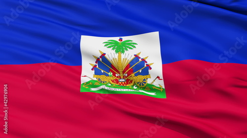 Waving national flag of Haiti