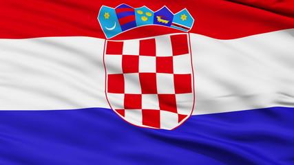Waving national flag of Croatia