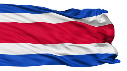 Waving national flag of Costarica
