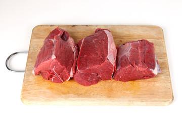 3 Portionen Rindfleisch