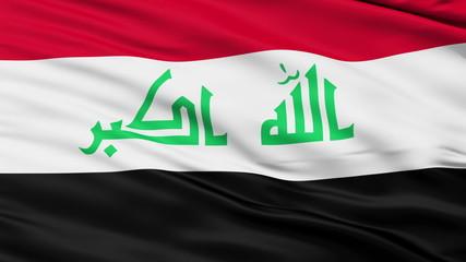 Waving national flag of Iraq