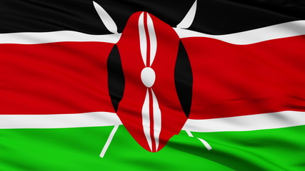 Waving national flag of Kenya