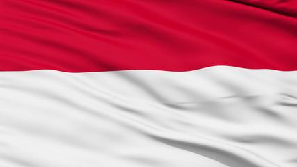 Waving national flag of Monaco