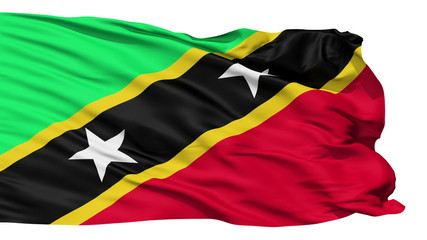 Waving national flag of Saint Kitts