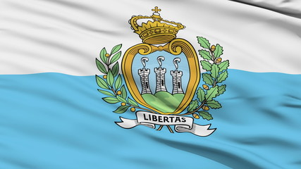 Waving national flag of Sanmarino