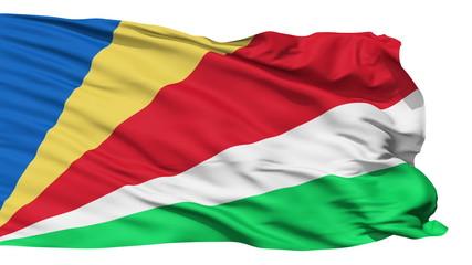 Waving national flag of Seychelles
