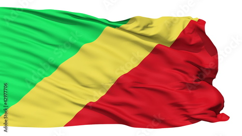 Waving national flag of Republic of Congo