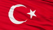 Waving national flag of Turkey