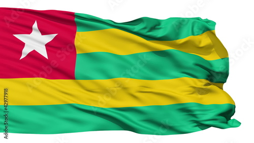 Waving national flag of Togo