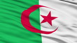 Waving national flag of Algeria