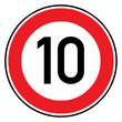 Verkehrsschild - 274 Höchstgeschwindigkeit (10)