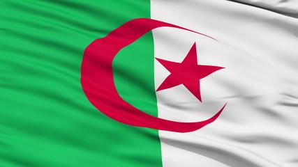 Waving national flag of Algeria