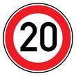 Verkehrsschild - 274 Höchstgeschwindigkeit (20)