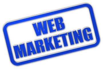 Stempel blau glas WEB MARKETING
