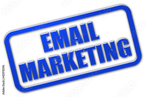 Stempel blau glas EMAIL MARKETING