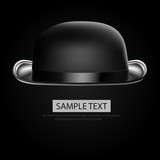 Bowler hat black background