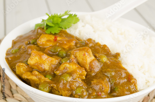 Chinese Chicken Curry & Steamed Rice