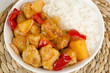 Sweet and Sour Chicken with Pineapple and Peppers & Rice