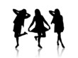 Silhouette of women