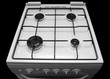 gas stove on a black background