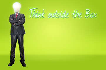 Business man think for concept idea