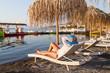 Holidays under parasol in Greece
