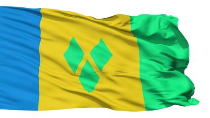 Waving national flag of Saint Vincent Grenadines