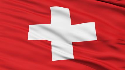 Waving national flag of Switzerland
