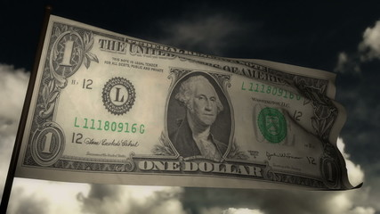 Flag dollar bill 02