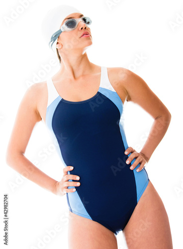 Woman in swimsuit