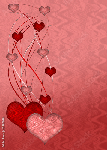 Pink and red heart background