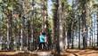 forest running woman