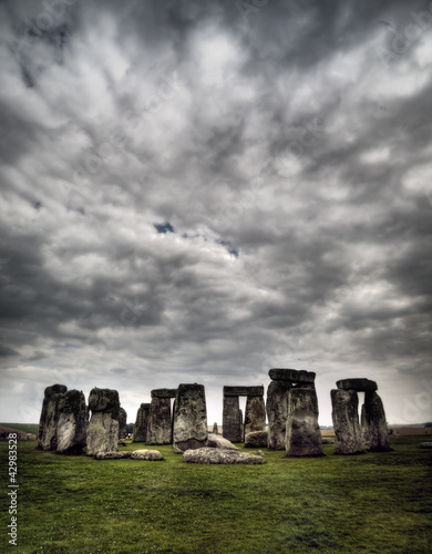 Stonehenge with dramatic sky