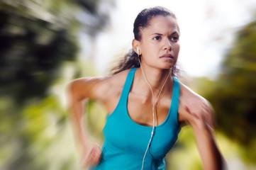 athlete training alone