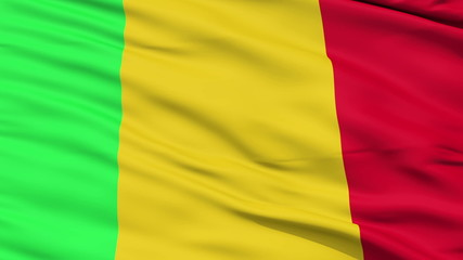 Waving national flag of Mali