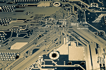 Computer motherboard abstract background