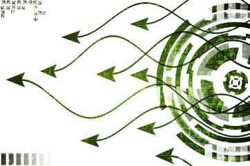 Arrows green  background