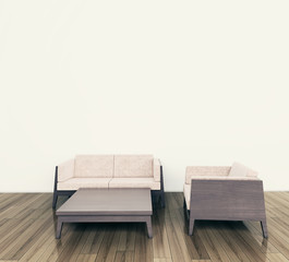 modern interior couch and armchair