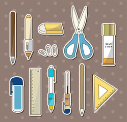 stationery stickers