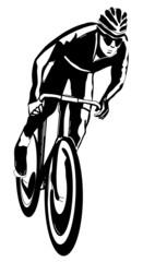 Cyclist, vector illustration