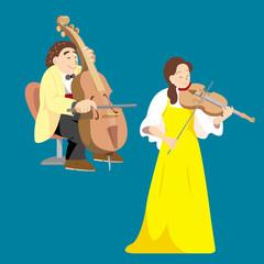 チェロ、ヴァイオリン
