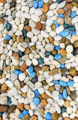 Many color pebble stone background