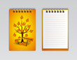 notebook with trees, vector