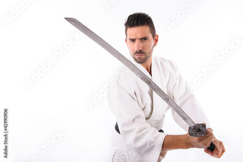 martial arts man with sword