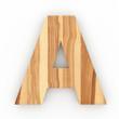 3d Font Wood Ash A